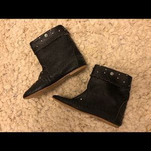 Vintage moccasin style bootie